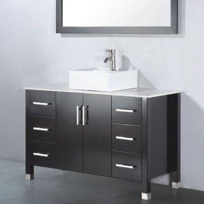 Adrian 48 Single Bathroom Vanity Set with Mirror Base Finish: Espresso