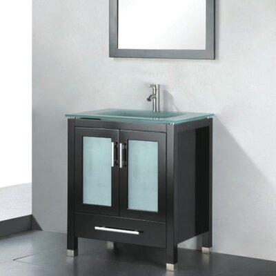 Amara 30 Single Bathroom Vanity Set with Mirror Base Finish: Espresso