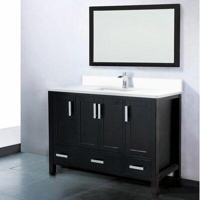 Astoria 48 Single Bathroom Vanity Set with Mirror Base Finish: Espresso