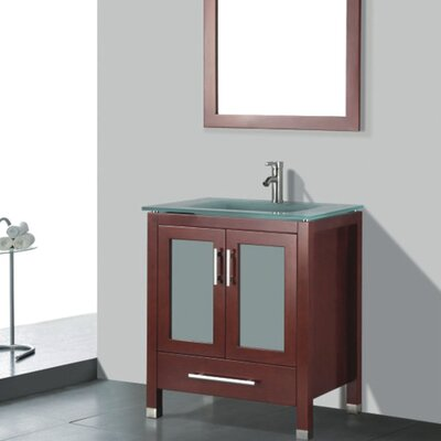 Amara 36 Single Bathroom Vanity Set with Mirror Base Finish: Chestnut