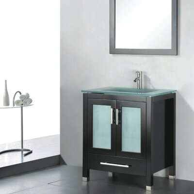 Amara 36 Single Bathroom Vanity Set with Mirror Base Finish: Espresso