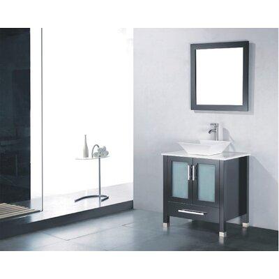 Adrian 36 Single Bathroom Vanity Set with Mirror Base Finish: Espresso