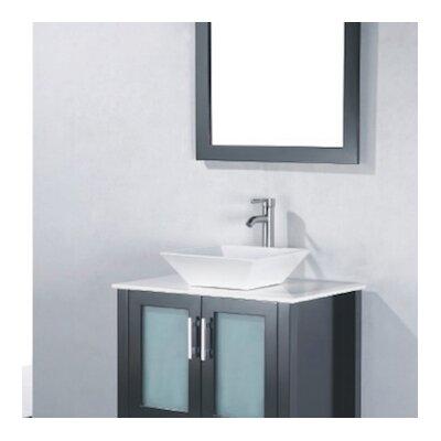Adrian 24 Single Bathroom Vanity Set with Mirror Base Finish: Espresso