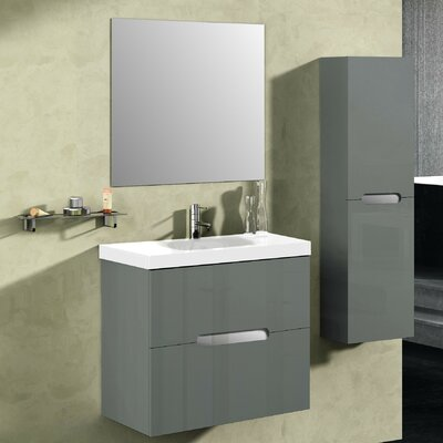 Bellezza 24 Single Vanity Set with Mirror Base Finish: Anthracite