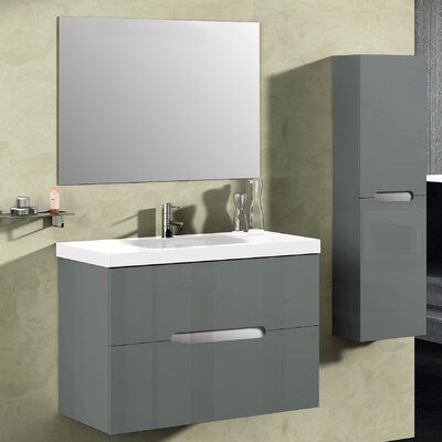 Bellezza 32 Single Vanity Set with Mirror Base Finish: Anthracite