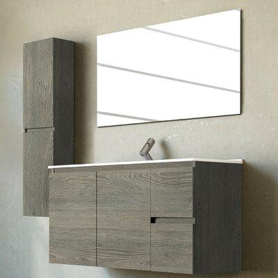 Belleza 40 Single Vanity Set with Mirror Base Finish: Smoky