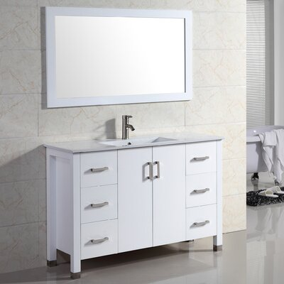 Amadis 48 Single Vanity Set with Mirror