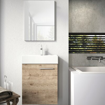 Tiny 18 Single Bathroom Vanity with Mirror Base Finish: Sanremo