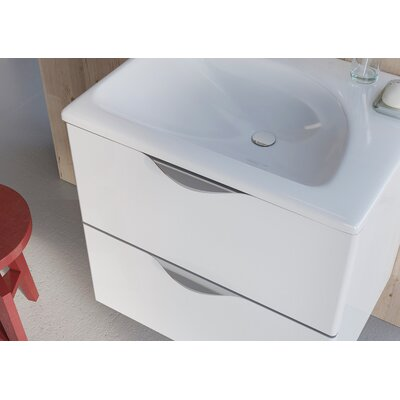 Ambio 32 Bathroom Vanity Set with Mirror Base Finish: High Gloss White