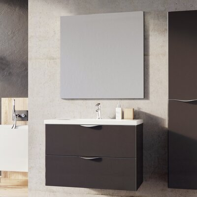 Ambio 32 Bathroom Vanity Set with Mirror Base Finish: Dim Gray