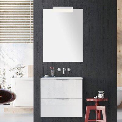 Ambio 24 Bathroom Vanity Set with Mirror Base Finish: High Gloss White