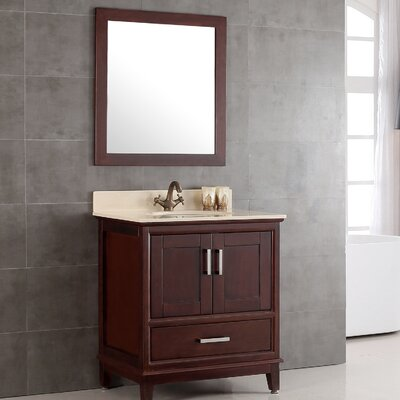 Augusta 36 Single Bathroom Vanity Set with Mirror