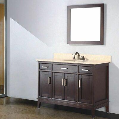 Augusta 48 Single Bathroom Vanity Set with Mirror