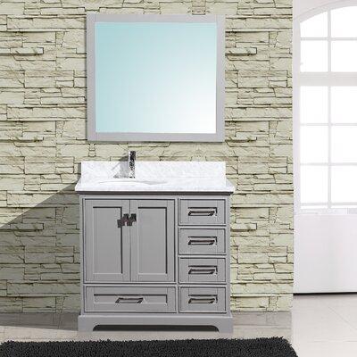 Cambridge 36 Single Bathroom Vanity with Mirror