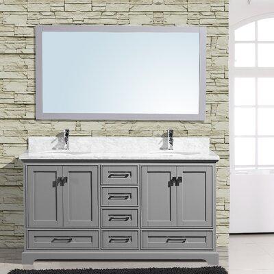 Cambridge 60 Double Bathroom Vanity with Mirror