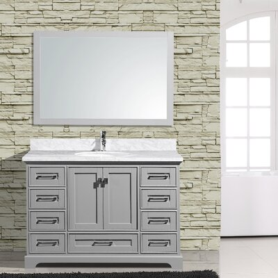 Frieda 48 Single Bathroom Vanity with Mirror