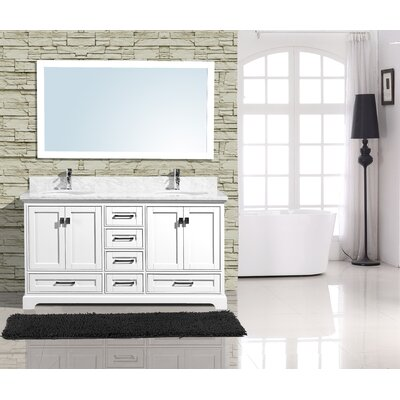 Frieda 60 Double Bathroom Vanity with Mirror