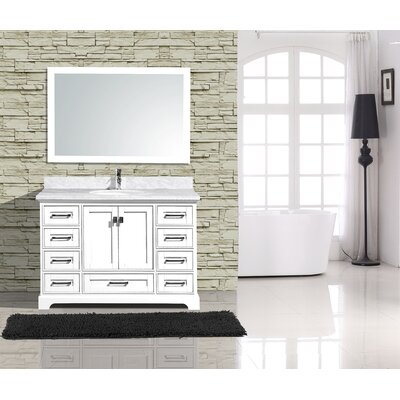Frieda Traditional 48 Single Bathroom Vanity with Mirror