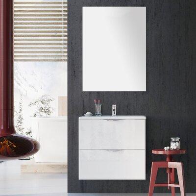 Ambio 24 Bathroom Vanity Set with Mirror Base Finish: Dim Gray