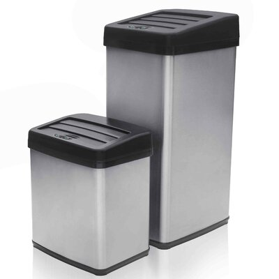 2 Piece Motion Activated Trashcan Set