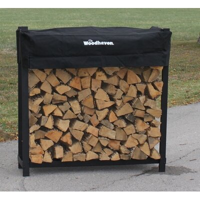 """Woodhaven Steel Log Rack - Finish: Brown, Size: 48"""" H x 96"""" W x 14"""" D at Sears.com"""
