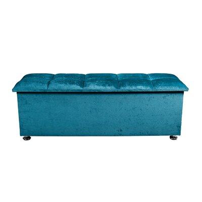 Polster-Sitztruhe Barcelona | Küche und Esszimmer > Sitzbänke > Sitztruhen | Blaugrüngrauviolettschwarzweißsilbergold | Samtstoff - Baumwolle | Portabello Interiors