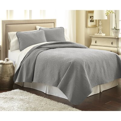 Vilano� Springs Quilt Set Size: Full/Queen, Color: Steel Gray