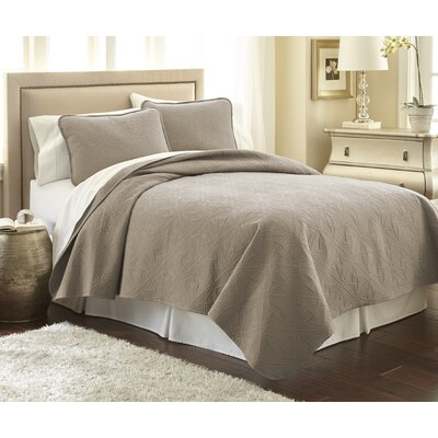 Vilano� Springs Quilt Set Size: Full/Queen, Color: Taupe
