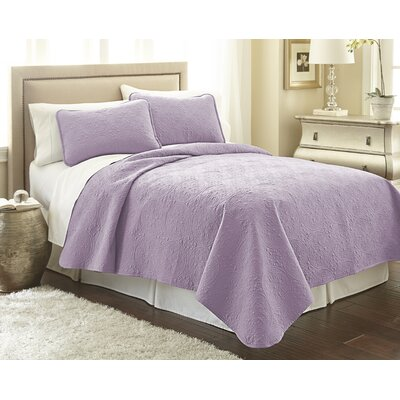 Vilano Springs Quilt Set Size: King/California King, Color: Lavender