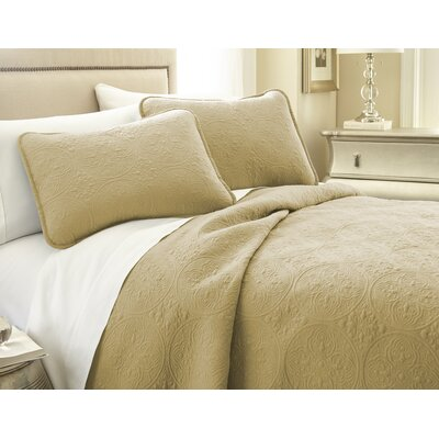 Vilano� Springs Quilt Set Size: Twin/Twin XL, Color: Gold