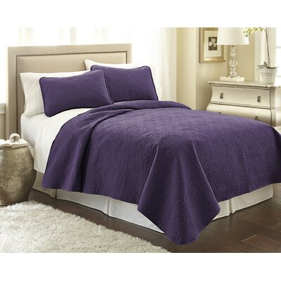 Vilano� Springs Quilt Set Size: Full/Queen, Color: Eggplant Purple
