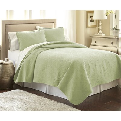 Vilano Springs Quilt Set Size: Full/Queen, Color: Sage Green