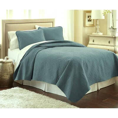 Vilano� Springs Quilt Set Size: King/California King, Color: Teal