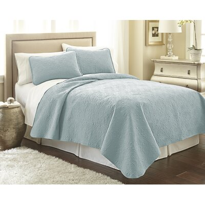 Vilano Springs Quilt Set Size: Full/Queen, Color: Sky Blue