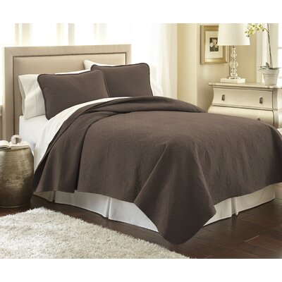 Vilano� Springs Quilt Set Size: King/California King, Color: Chocolate Brown