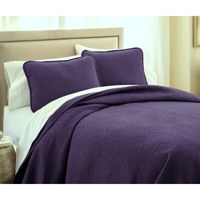 Vilano� Springs Quilt Set Size: King/California King, Color: Eggplant Purple