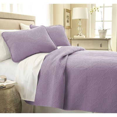 Vilano� Springs Quilt Set Size: Full/Queen, Color: Lavender