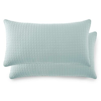 Vilano Springs Quilted Lumbar Pillow Covers Size: 20 H x 36 W, Color: Sky Blue