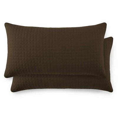 Vilano Springs Quilted Lumbar Pillow Covers Size: 20 H x 36 W, Color: Chocolate Brown