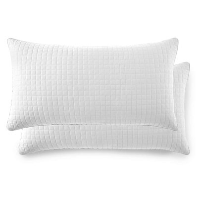 Vilano Springs Quilted Lumbar Pillow Covers Size: 20 H x 36 W, Color: Bright White