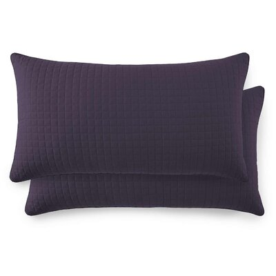 Vilano Springs Quilted Lumbar Pillow Covers Size: 20 H x 36 W, Color: Purple