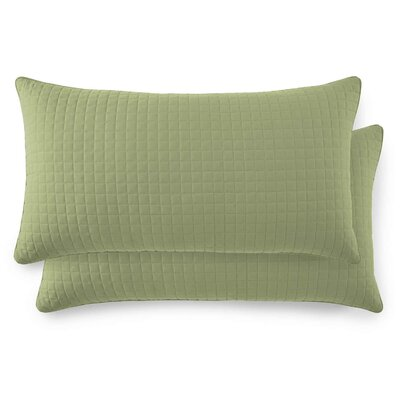 Vilano Springs Quilted Lumbar Pillow Covers Size: 20 H x 36 W, Color: Sage Green