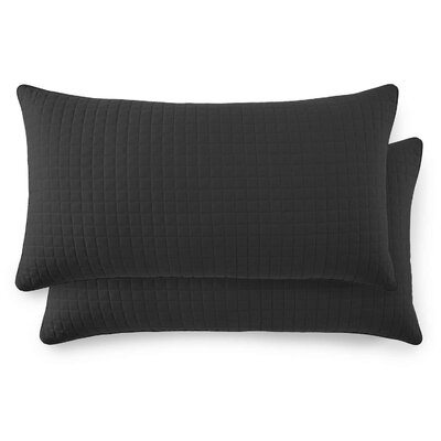 Vilano Springs Quilted Lumbar Pillow Covers Color: Black, Size: 20 H x 36 W