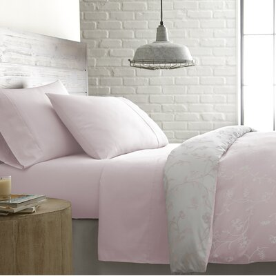 Briteyarn Solid 300 Thread Count 100% Cotton Sheet Set Size: Full, Color: Pastel Pink