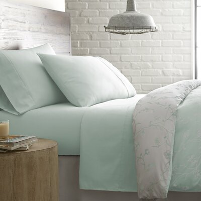 Briteyarn Solid 300 Thread Count 100% Cotton Sheet Set Size: King, Color: Pastel Green