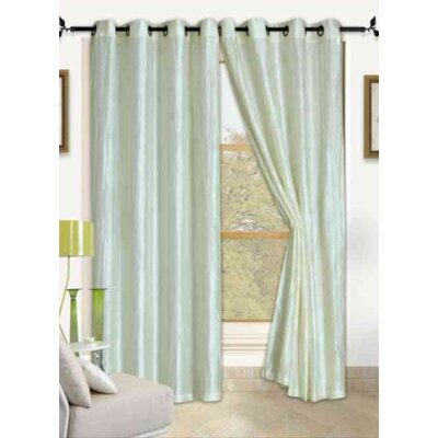 Kashi Home Sherry Crushed Satin Curtain Panel with Gromment Top (Set of 2) - Color: Honey