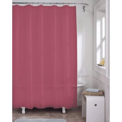 Vinyl Shower Curtain Liner Color: Burgundy