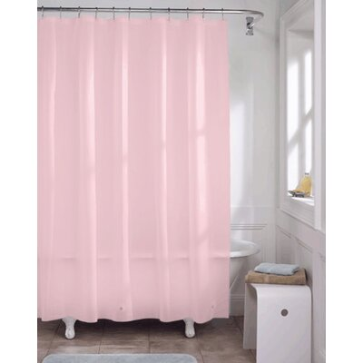 Vinyl Shower Curtain Liner Color: Rose