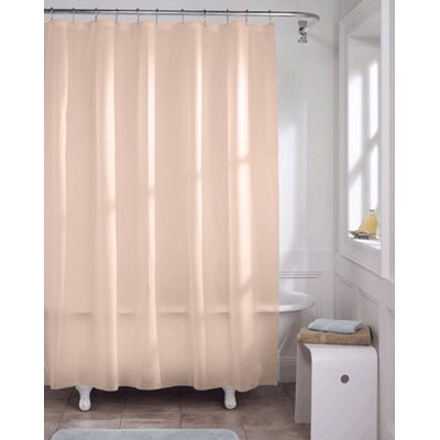 Vinyl Shower Curtain Liner Color: Peach