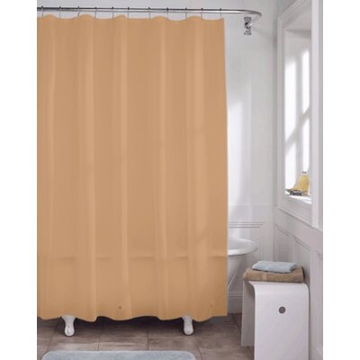 Vinyl Heavy Gauge Shower Curtain Liner Color: Brown